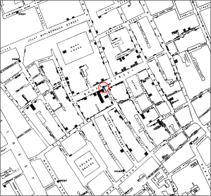 Cholera Map by John Snow